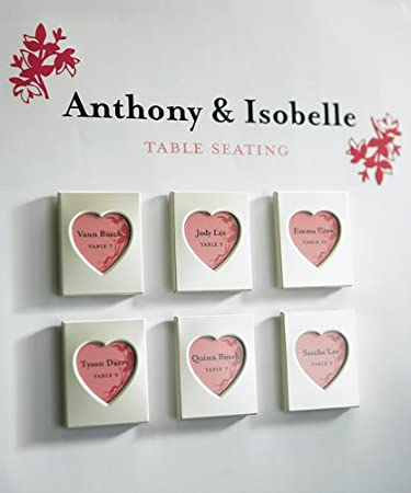Amazoncom Mini Magnet Back Aluminum Heart Photo Frames Party Favors