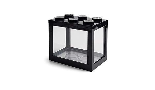 Yshen Pecera Mini Led Aquarium Mini Fish Bowls Block Reptile Box ...