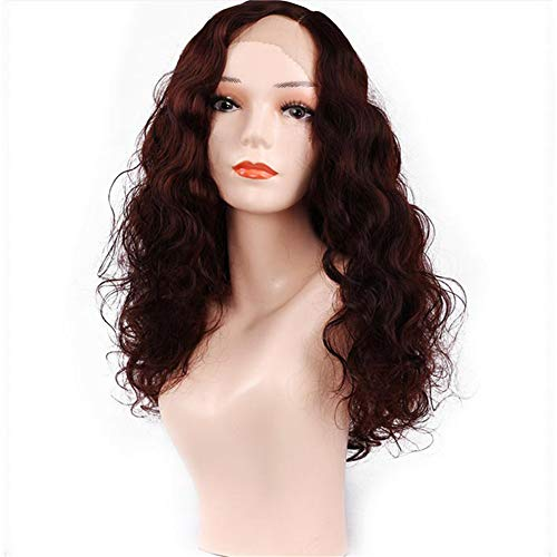NEWNESS Synthetic Wigs Finger Wave Wig 1920s Mid Length Long Curly Retro Synthetic Hair for Women Cosplay Costume Halloween -