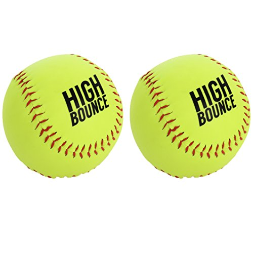 High Bounce Set of Sports Practice Softballs