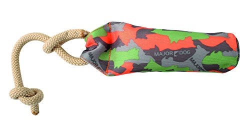 "MAJOR DOG 7"" Buoy Dummy Toy, Small, Camo Green/Orange"