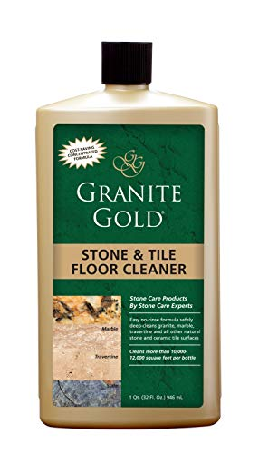 Granite Gold Stone And Tile Floor Cleaner - No-Rinse Deep Cleaning Granite, Marble, Travertine, Ceramic Solution - 32 Ounces (Packaging may vary) ()