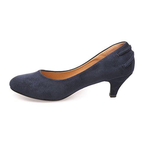 La Modeuse - Zapatos de Vestir de Material Sintético Mujer Azul
