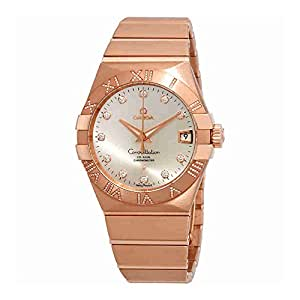 Omega Constellation Silver Dial Rose Gold Mens Watch 123.55.38.21.52.007