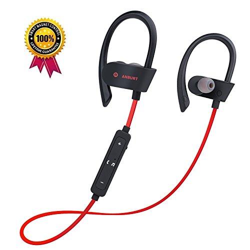 Anburt Wireless Headphones, Best Bluetooth Wireless sport headphones,Headsets with Built-in Mic, waterproof Noise cancelling earbuds, sweatproof earphones for running, jogging gym