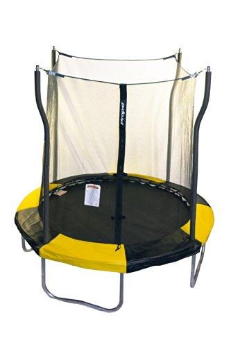 Cheap Propel Trampolines Indoor/Outdoor Trampoline with Enclosure, 7-Feet Round by 86-Inch Tall, Yellow and Black Frame Pad