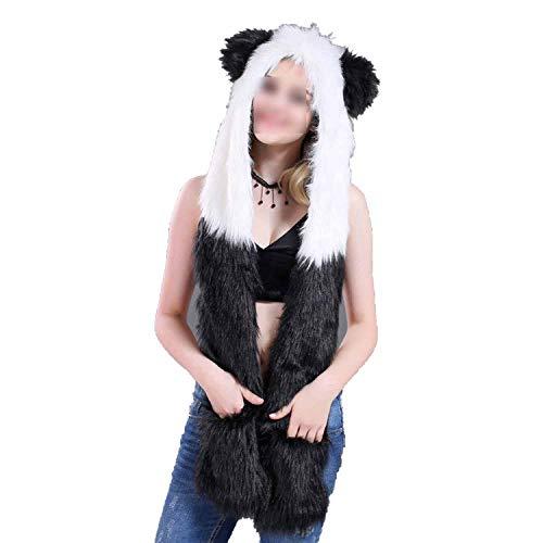 Cartoon Animal Hat Plush Beanie Fleece Winter Warm Fluffy Hooded Cap Earmuff -