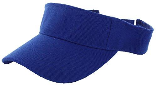 DealStock Plain Men Women Sport Sun Visor One Size Adjustable Cap (29+ Colors) (Blue)
