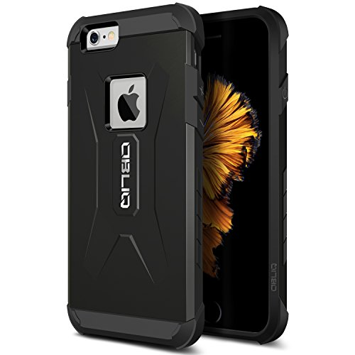 iPhone 6S Case, OBLIQ [Xtreme Pro][Black] Hybrid Rugged Dual Layered All-Around Shock Slim Resistant TPU Armor Shock Resistant Case for Apple iPhone 6S (2015) & iPhone 6 (2014)