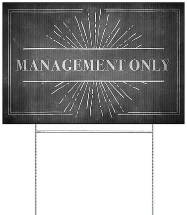 Chalk Burst Double-Sided Weather-Resistant Yard Sign 27x18 5-Pack Management Only CGSignLab