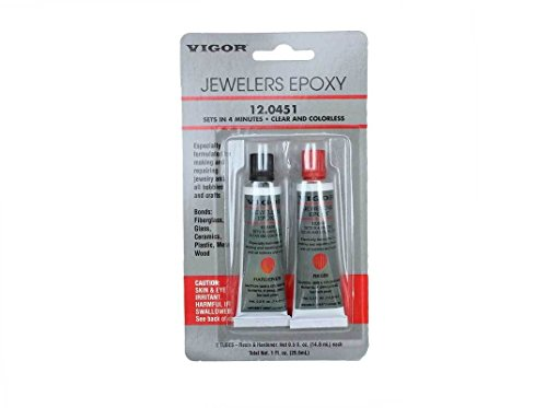 Vigor Jeweler's Epoxy 2 Step 12.0451 - Fast Setup Clear and Colorless - Resin and Hardener