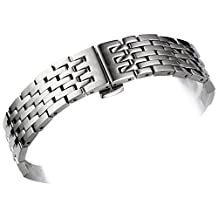 Men's 316L Solid Stainless Steel Metal Watch Band/Strap Replacement for Tissot 1853 Le Locle T41 Series 19mm 20mm