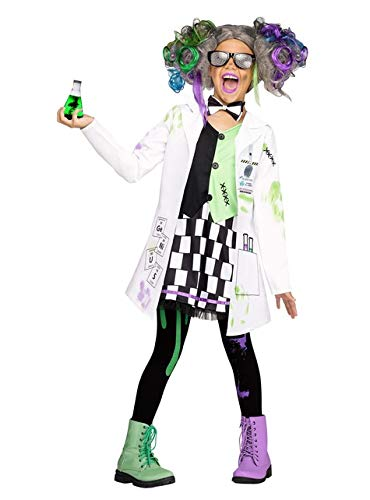 Fun World Mad Scientist Girl Costume, X-Large 14-16, White