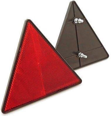 227s rouge fixation arri/ère boulon agr/é/é ECE remorque//caravane catadioptres triangulaires