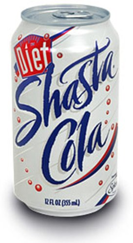 SHASTA Soda Diet Cola, 12-Ounce Cans (Pack of 24)