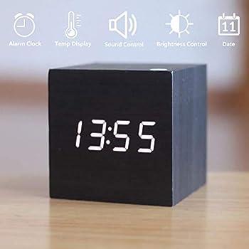 Jiayousheng Wooden LED Digital Alarm Clock