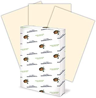 product image for Hammermill Colored Paper, 20 lb Ivory Printer Paper, 11 x 17-1 Ream (500 Sheets) - Made in the USA, Pastel Paper
