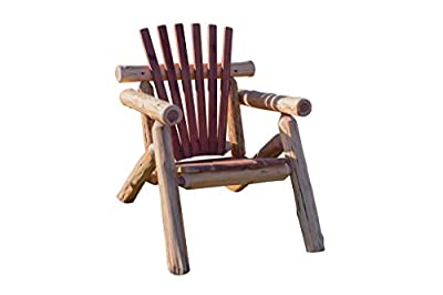 Rustic Outdoor Red Cedar Log Adirondack Chair- Amish Made in the USA