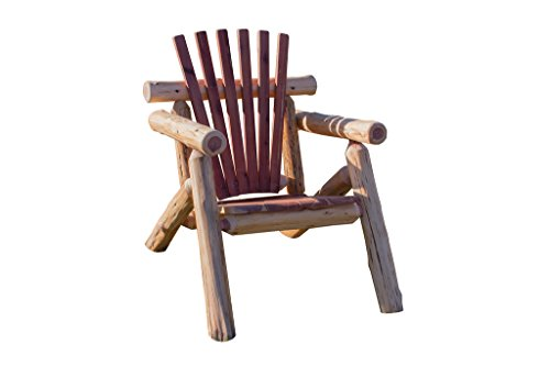 Rustic Outdoor Red Cedar Log Adirondack Chair