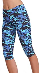 Margarita Blue Camo Capri Leggings