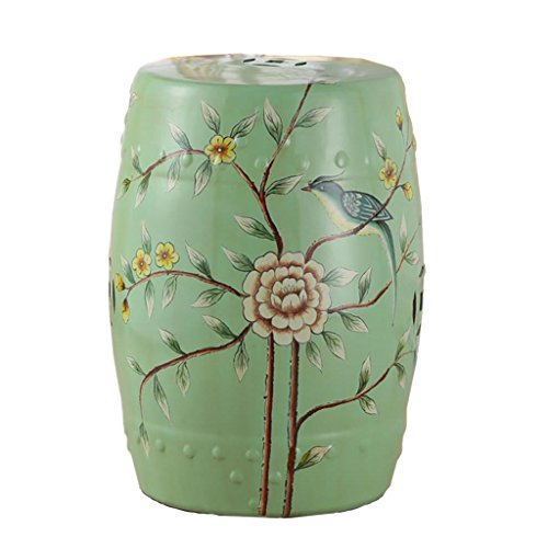 - AIDELAI Bar Stool Chair- European-Style Hand-Painted Ceramic Drum Stool Shoe Stool Ornaments Neo-Classical Dressing Stool Round Stool (30 46cm) Saddle Seat (Color : H)