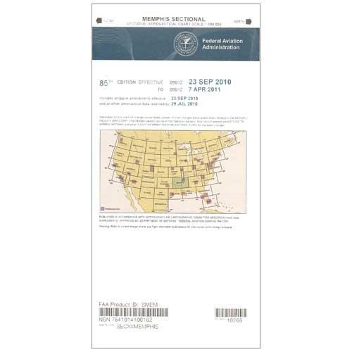 FAA Chart: VFR Sectional MEMPHIS SMEM (Current Edition)