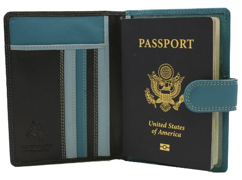 Visconti Soft Leather Secure RFID Blocking Passport Cover Wallet - POLO 2201