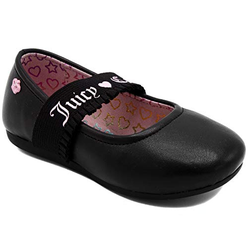 Girls Juicy Heart Couture - Juicy Couture Kids JC Catalina Girls Slip On Mary Jane Flat Dress Shoe Loafer 10 Toddler