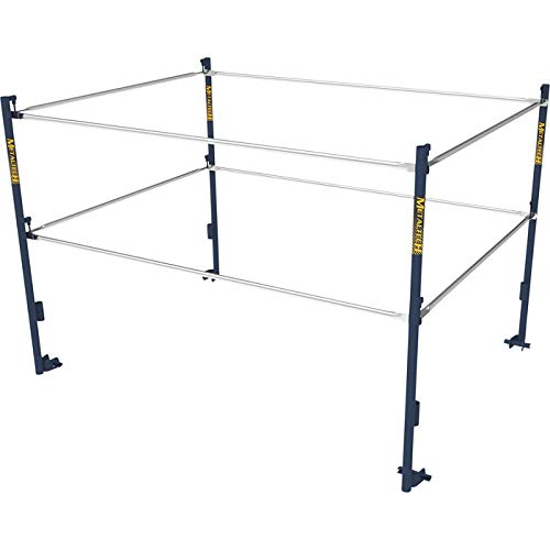 Metaltech 5ft.W x 7ft.D Scaffold Guardrail System - Model Number M-MG507K by Metaltech