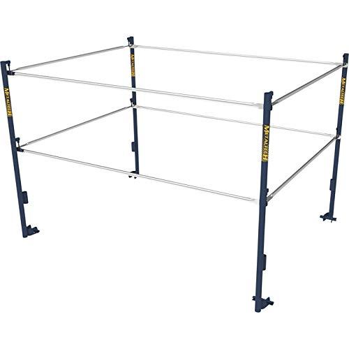 Guard Rail Systems - Metaltech 5ft.W x 7ft.D Scaffold Guardrail System - Model# M-MG507K