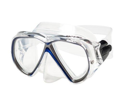 Bare Duo Compact Mask for Smaller Faces Scuba Diving and Snorkeling Mask (Blue)