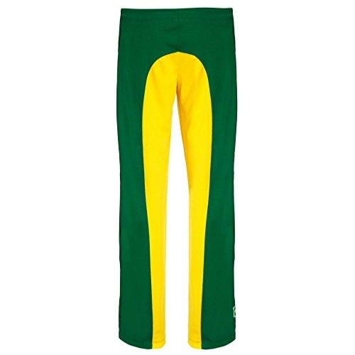 traditionellen Brasilianische Capoeira Hose Unisex Gelb Grün Abada Martial Arts Elastische Pants.