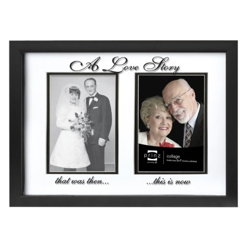 PRINZ 2 Opening Forevermore 'A Love Story' Anniversary Frame in Black Finish, 5 by ()