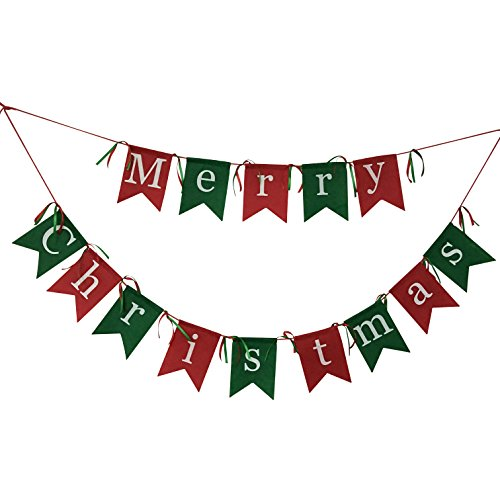 Non-woven Fabrics Merry Christmas Garlands Banner Sign for Holiday Decoration , Christmas Party Favors
