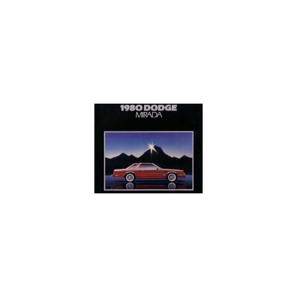 1980 Dodge Mirada Sales Brochure Literature Book Piece Dealer Advertisement