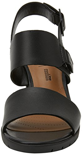 Sandali Kurtley Caviglia Black con Donna Shine Leather Cinturino Clarks alla Nero UZWBHW1