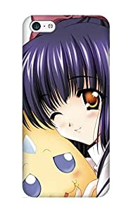 Hard Plastic Iphone 5/5s Case Back Cover, Hot Anime Women Violet Hair Case For Christmas's Perfect Gift
