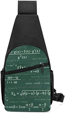 ボディ肩掛け 斜め掛け 数学の方程式 ショルダーバッグ ワンショルダーバッグ メンズ 軽量 大容量 多機能レジャーバックパック
