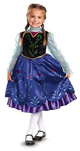 UHC Cute Girl's Anna Disney Frozen Toddler Kids Fancy Dress Halloween Costume, 3T-4T