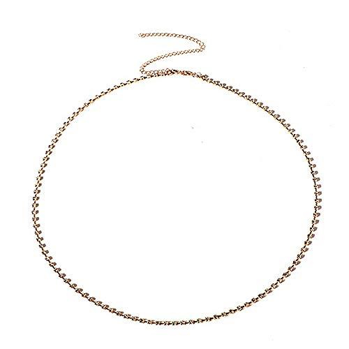 YRY Sexy Rhinestone Beach Belly Waist Chain Gold Crystal Jewelry Body Chain for Women