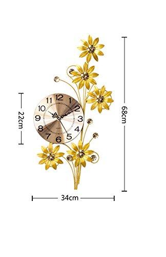 RFVBNM Classic Iron Art Clocks Wall Clock Drawing creative modern minimalist decor bedroom attached table continental home table 3468cm