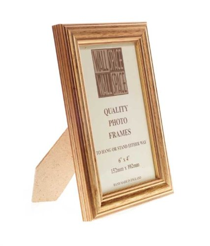 6 X 4 Deluxe Gold Wooden Photo Frames Amazoncouk Kitchen Home