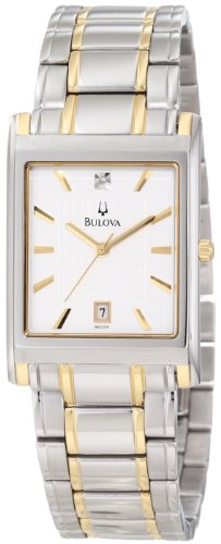 Bulova Men's 98D005 Diamond Dial Calendar Watch