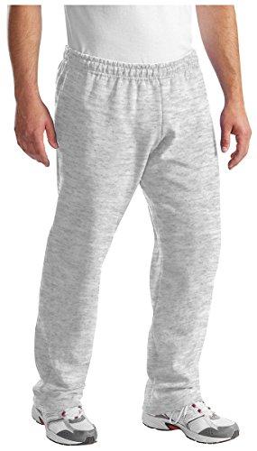 Port & Company, pantaloni della tuta, da uomo, leggeri, con elastico in vita, in felpa Ash Large