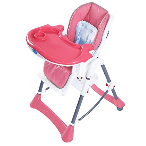 Giantex Portable Baby High Chair Infant Toddler Feeding Booster Folding Highchair (Pink)
