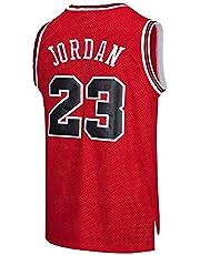 Maglia da Uomo, NBA #23 Michael Jordan Bulls Retro, Maglia da Giocatore di Basket Vintage, Ricamo Traspirante e Resistente all'Usura T-Shirt da Uomo