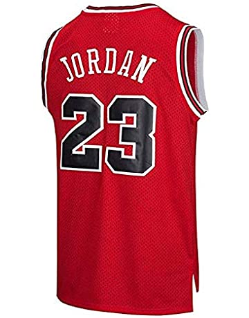 0adb863282d59b runvian Men's Jersey - NBA Bulls #23 Michael Jordan Mesh Basketball  Swingman Jersey