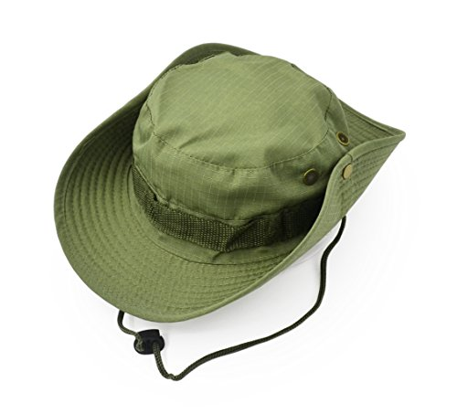 Outdoor Wide Brim Sun Protect Hat, Classic US Combat Army Style Bush Jungle Sun Cap for Fishing Hunting Camping 7
