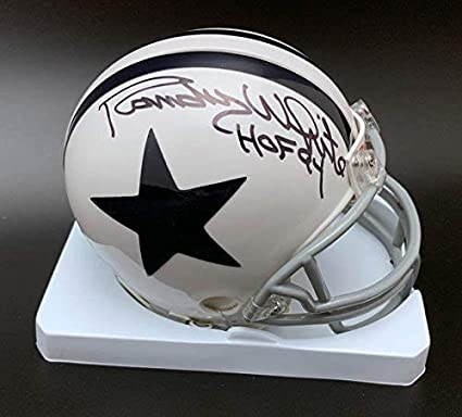 Image Unavailable. Image not available for. Color  Autographed Randy White  Mini Helmet - + HOF 94 ... 82800471d