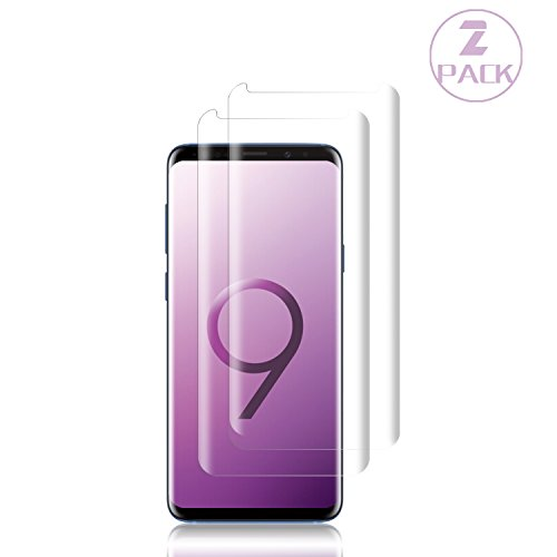 [2-Pack] Galaxy S9 Plus Screen Protector,Cafetec Tempered Glass Screen Protector [9H Hardness][Easy Bubble-Free Installation][Anti-Scratch] Compatible Samsung Galaxy S9 Plus.